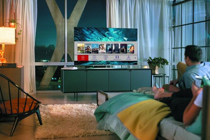 """Diveo Smart-TV-App auf Samsung Smart TV (c) Diveo /  Weiterer Text über ots und www.presseportal.de/nr/129579 / Die Verwendung dieses Bildes ist für redaktionelle Zwecke honorarfrei. Veröffentlichung bitte unter Quellenangabe: """"obs/Diveo"""""""