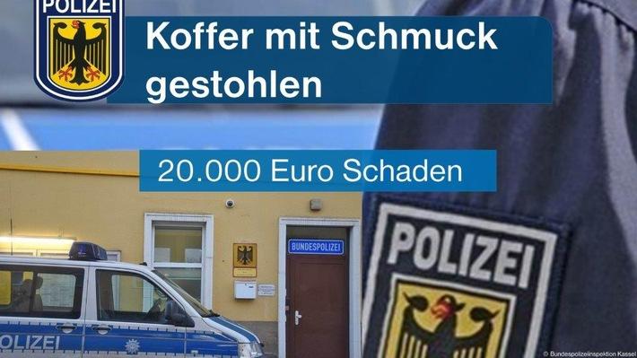 BPOL-KS: Koffer mit teurem Schmuck gestohlen
