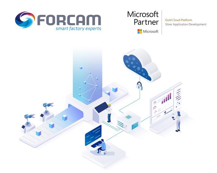 """Die Goldpartnerschaft im Microsoft Kompetenzfeld """"Cloud Platform"""" belegt, dass FORCAM über die technischen Fähigkeiten sowie das Knowhow verfügt, Cloudanwendungen und ‑dienste auf Microsoft Azure bereitzustellen und Kunden in kurzer Zeit zu sicheren, skalierbaren und zuverlässigen Cloudlösungen zu verhelfen / Weiterer Text über ots und www.presseportal.de/nr/100391 / Die Verwendung dieses Bildes ist für redaktionelle Zwecke unter Beachtung ggf. genannter Nutzungsbedingungen honorarfrei. Veröffentlichung bitte mit Bildrechte-Hinweis."""