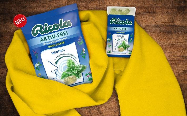 """Ricola AKTIV-FREI - für ein freies Atemgefühl. Weiterer Text über ots und www.presseportal.de/nr/57777 / Die Verwendung dieses Bildes ist für redaktionelle Zwecke honorarfrei. Veröffentlichung bitte unter Quellenangabe: """"obs/Ricola"""""""