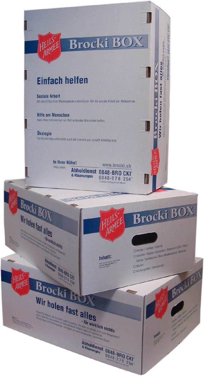 Heilsarmee: Hunderttausend Brocki BOXEN verkauft
