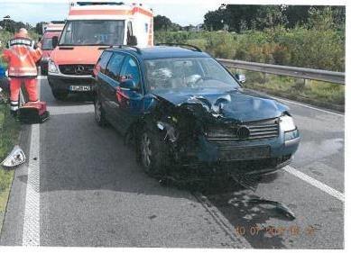 Schäden am Unfallfahrzeug