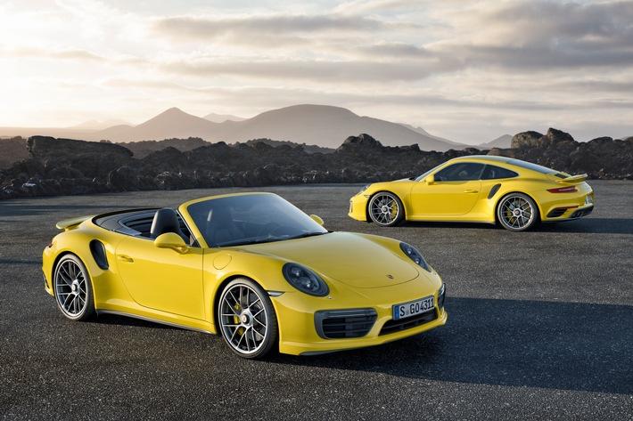 Le nuove Porsche 911 Turbo e 911 Turbo S