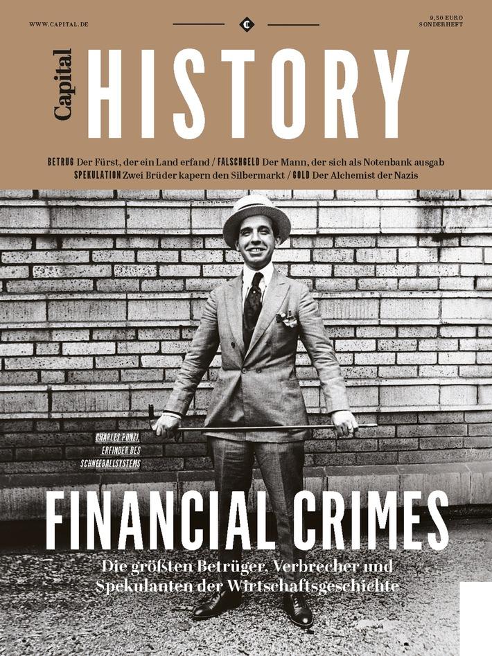 'Capital' mit neuem Sonderheft der 'Capital History'-Reihe: Themenheft 'Financial Crimes' in hochwertiger Heftausstattung