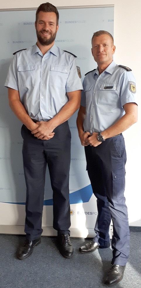 Martin Wierig mit dem Inspektionsleiter Dr. Alexander Schmelzer