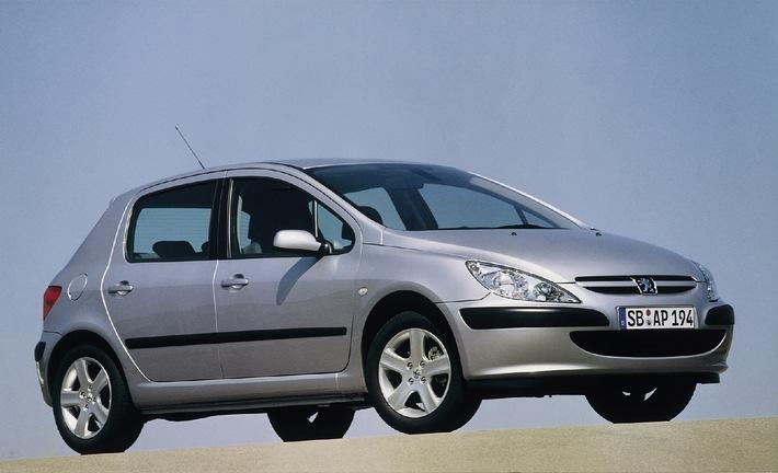 """Der Peugeot 307 ist das """"Auto des Jahres 2002"""""""
