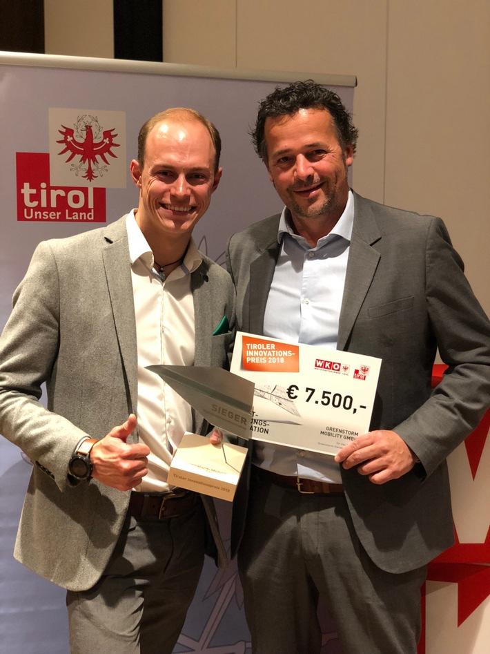 BILD zu OTS - Tiroler Innovationspreis 2018 für Greenstorm-Händlerkonzept