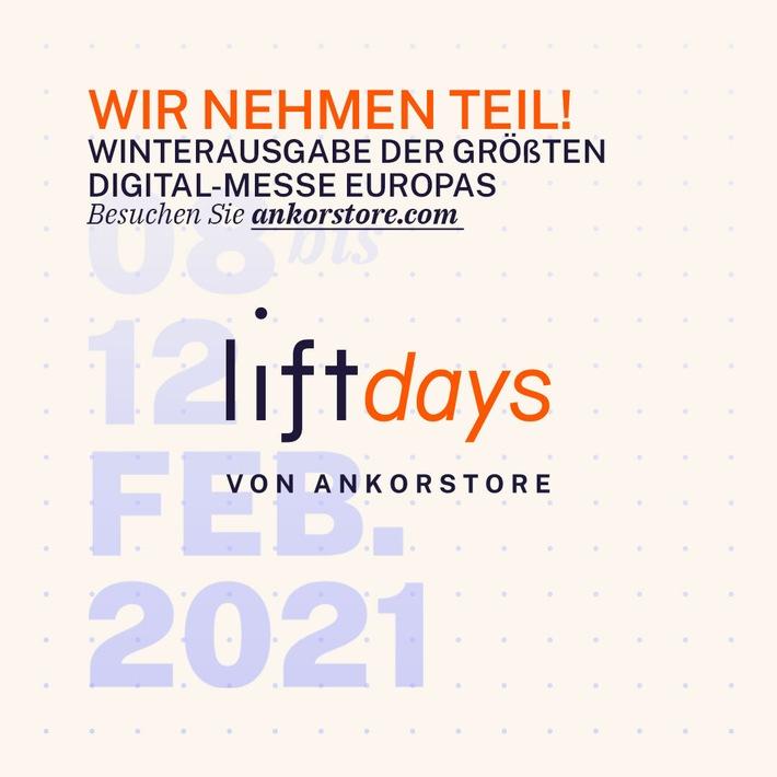 """Nach großem Erfolg der ersten """"liftdays"""": Ankorstore setzt virtuelle Messe für Einzelhändler und Marken fort"""