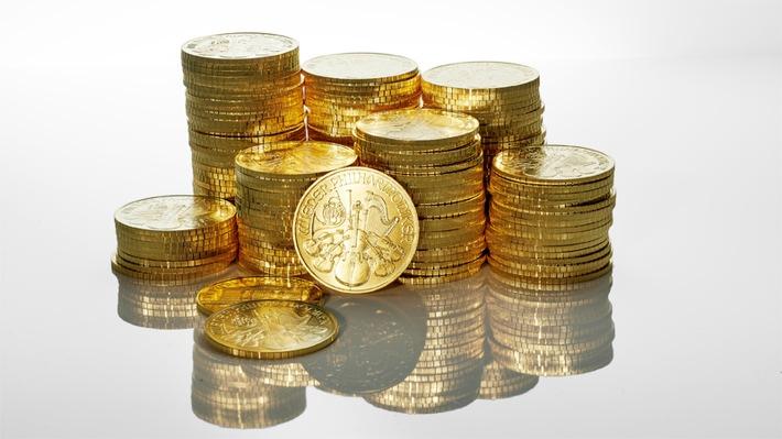 BILD zu OTS - Wiener Philharmoniker, die beliebteste Goldmünze in Europa wird immer öfter online gekauft, 2020 wurde der 7-fache Umsatz von 2019 im Bereich E-Commerce erzielt. Ab sofort ist der Online Einkauf rund um die Uhr möglich