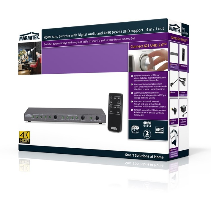 Connect 621 UHD 2.0: HDMI Switch von Marmitek
