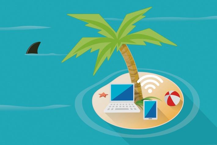 Mit Smartphone und Tablet auch im Urlaub auf der sicheren Seite