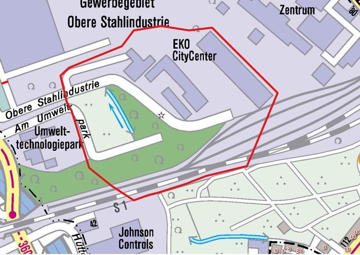 """FW-BO: Fund einer Fliegerbombe """"Obere Stahlindustrie"""" in Bochum-Stahlhausen"""