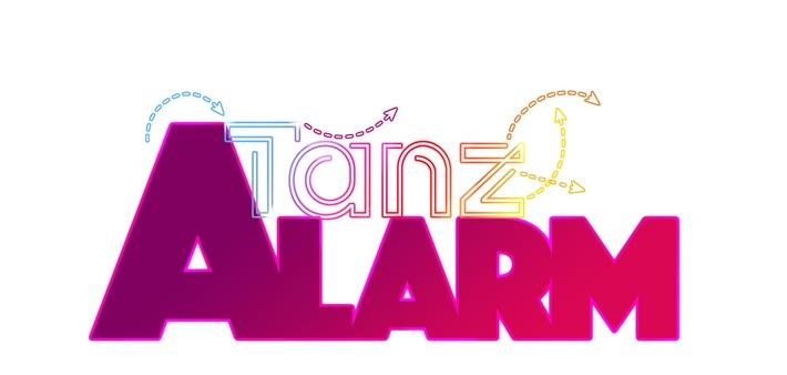 """TanzAlarm Logo © KiKA - Honorarfreie Verwendung gemäß AGB im redaktionellen Zusammenhang mit genannter Sendung bei Nennung """"Bild: KiKA""""."""