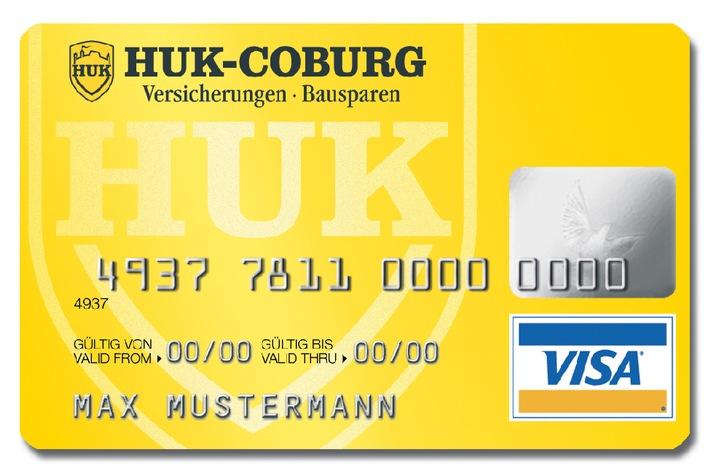 """Mit der HUK-COBURG VISA-Karte erhält man ab jetzt auf ein Guthaben  seines Visakontos 2,5 Prozent Zinsen pro Jahr ab dem ersten Euro.  Die Verwendung dieses Bildes ist für redaktionelle Zwecke honorarfrei.  Abdruck bitte unter Quellenangabe: """"obs/HUK-COBURG"""""""
