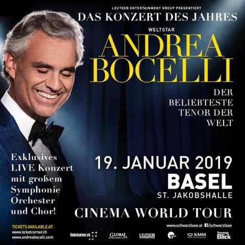 ANDREA BOCELLI am 19.1.2019 in der St. Jakobshalle in BASEL - BILD