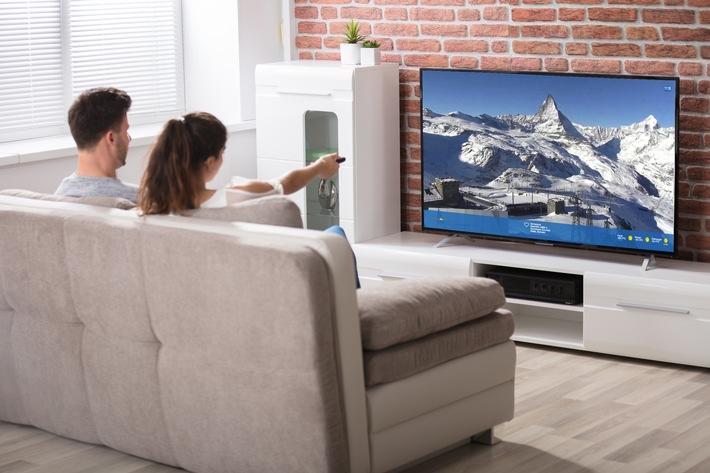 BILD zu OTS - Neu im Angebot von Swisscom TV: feratel webcams App.