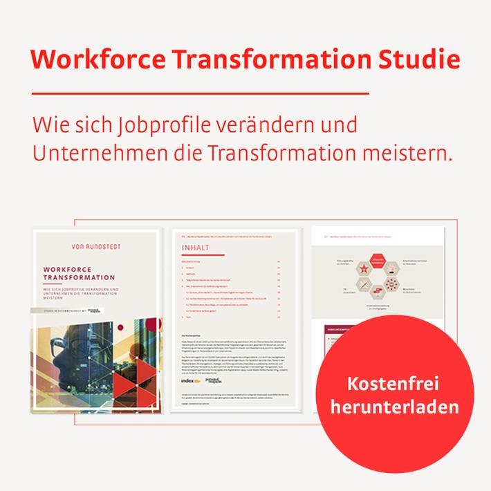 """Die """"Workforce Transformation""""-Studie zeigt, wie und wo sich Jobprofile verändern und gibt Handlungsempfehlungen, wie Unternehmen die Veränderung erfolgreich gestalten können. / Weiterer Text über ots und www.presseportal.de/nr/150124 / Die Verwendung dieses Bildes ist für redaktionelle Zwecke honorarfrei. Veröffentlichung bitte unter Quellenangabe: """"obs/v. Rundstedt & Partner GmbH"""""""