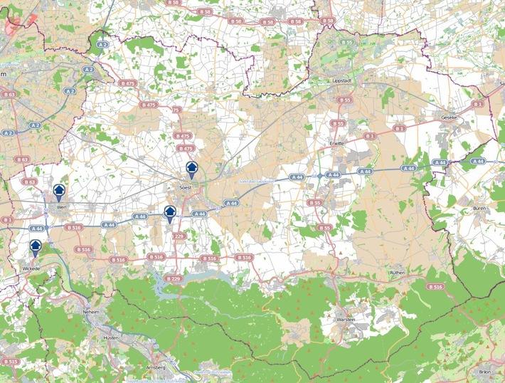 POL-SO: Kreis Soest - Wohnungseinbruchradar