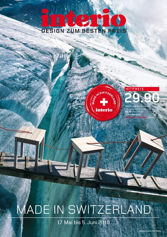 Interio - Made in Switzerland / Vom 17. Mai bis 5. Juni 2010