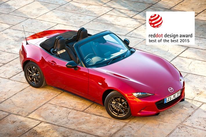 """Mazda MX-5 mit """"Red Dot: Best of the Best"""" Award ausgezeichnet"""