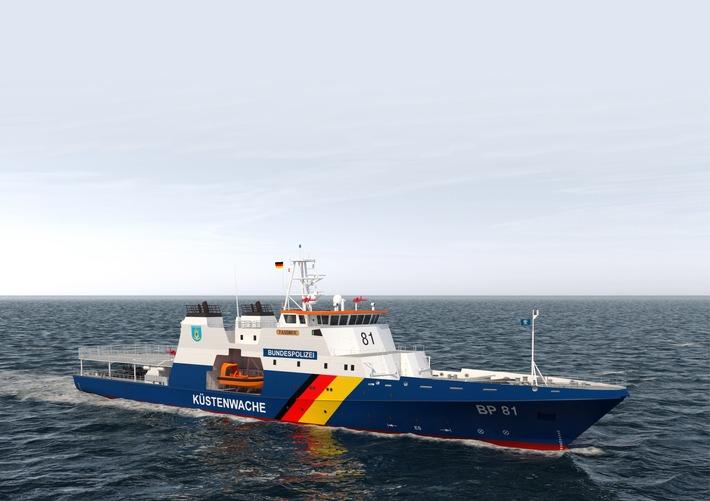 Einsatzschiff der Bundespolizei