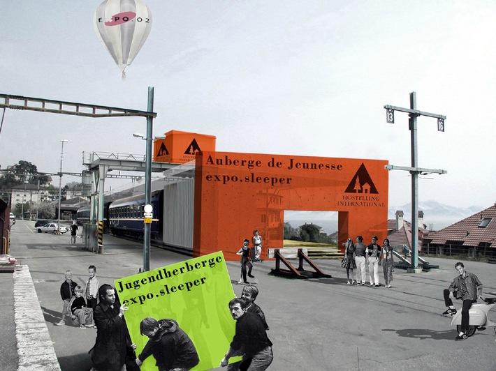 """Projet Auberge de Jeunesse """"expo.sleeper"""" Neuchâtel"""