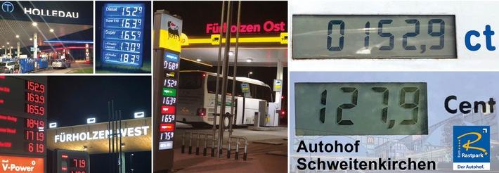 Urlauber Abzocke Autobahn-Raststätte / Ohne Worte (FOTO)
