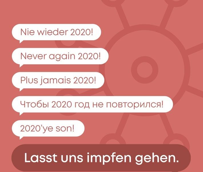 """Kampagnenmotiv Initiative gegen Corona """"Lasst uns impfen gehen"""" / Weiterer Text über ots und www.presseportal.de/nr/135077 / Die Verwendung dieses Bildes ist für redaktionelle Zwecke honorarfrei. Veröffentlichung bitte unter Quellenangabe: """"obs/NOVENTI Health SE"""""""