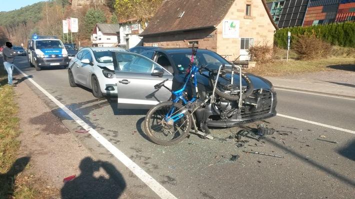 ein Radfahrer war glücklicherweise nicht verwickelt.