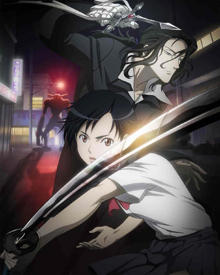 """""""Blood Plus"""": """"Blood Plus"""". Foto: © 2005 Production I.G., Aniplex, MBS, HAKUHODO. Voll animiert in der Late-Prime: Anime-Serien """"Blood+"""", """"Wolf's Rain"""" und """"Baki"""" ab 7. Februar auf ProSieben MAXX. Starke Importware aus Japan für ProSieben MAXX: Ab 7. Februar zeigt der Sender die Adult-Anime-Hits """"Blood+"""" (13 Folgen, 2005/2006) und """"Baki"""" (24 Folgen, 2001) erstmals im deutschen Free-TV. Komplettiert wird der neue Anime-Slot in der Late-Prime am Freitag durch die Serie """"Wolf's Rain"""" (30 Folgen, 2003) und verheißt so eine bunte Kombination aus Abenteuer, Science-Fiction und Trick für Erwachsene. Dieses Bild darf bis Ende Februar 2014 honorarfrei fuer redaktionelle Zwecke und nur im Rahmen der Programmankuendigung verwendet werden. Spaetere Veroeffentlichungen sind nur nach Ruecksprache und ausdruecklicher Genehmigung der ProSiebenSat1 TV Deutschland GmbH moeglich. Verwendung nur mit vollstaendigem Copyrightvermerk. Das Foto darf nicht veraendert, bearbeitet und nur im Ganzen verwendet werden. Nicht für EPG! Es darf nicht archiviert werden. Es darf nicht an Dritte weitergeleitet werden. Bei Fragen: 089/9507-1173. Voraussetzung fuer die Verwendung dieser Programmdaten ist die Zustimmung zu den Allgemeinen Geschaeftsbedingungen der Presselounges der Sender der ProSiebenSat.1 Media AG."""