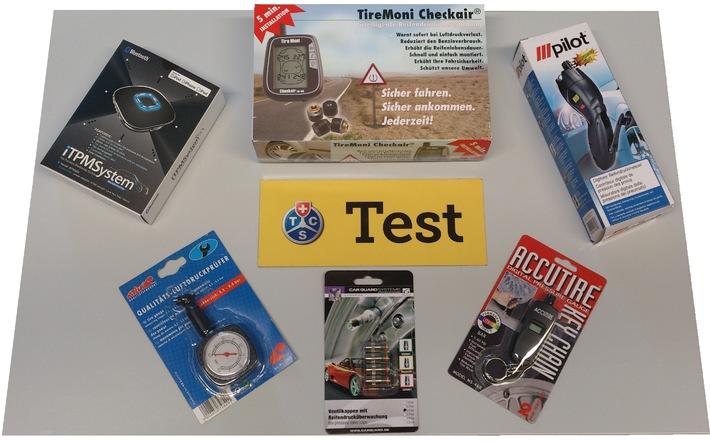 Reifendruckkontrollsysteme im TCS-Test: Zu tiefer Reifendruck schadet (BILD)