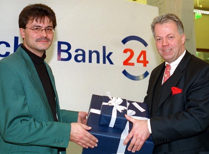 Einmillionster Online-Kunde der Deutschen Bank 24