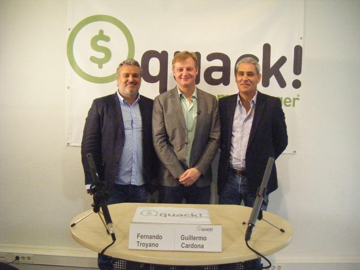 quack! Messenger: Beim Chatten Geld verdienen / Gratis-App startet heute in Deutschland