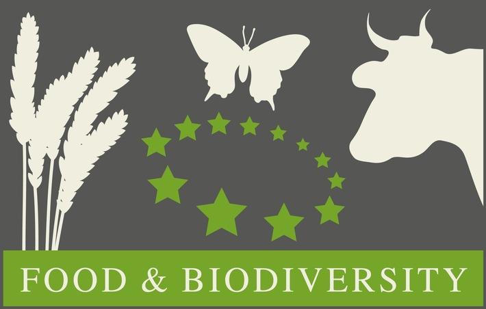 """Logo der neuen Initiative """"Biodiversität in Standards und Labels der Lebensmittelbranche"""""""