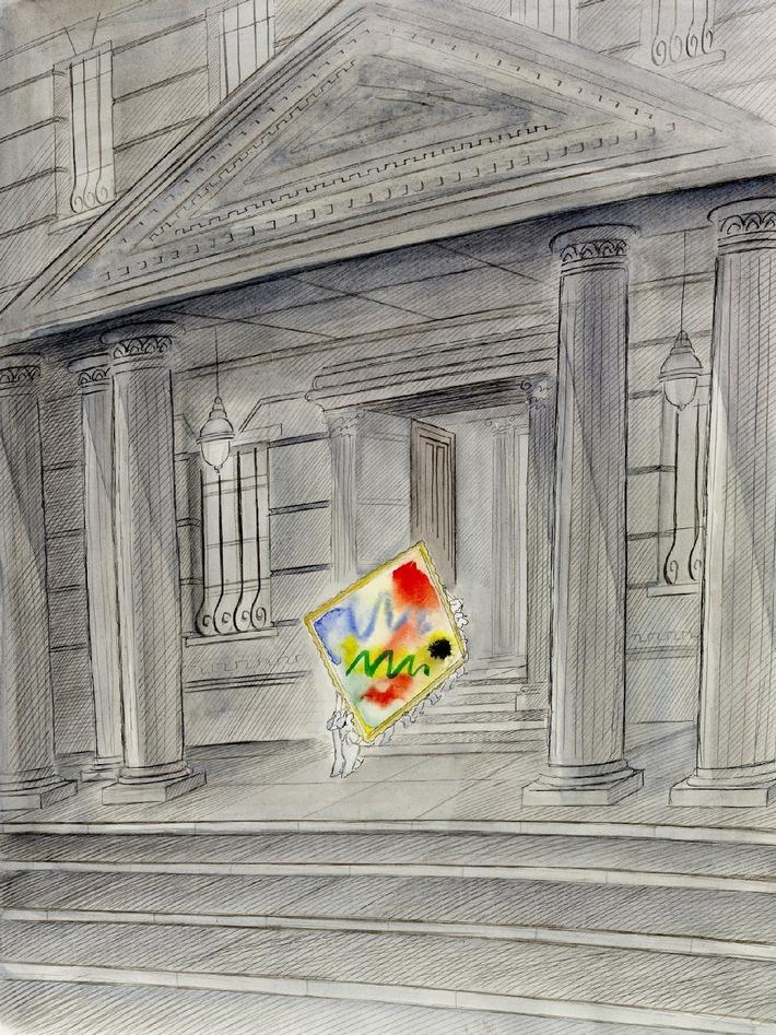 """O.T., Feder/Aquarell, 47 x 37cm / Reprod. Der Morgenmensch, Diogenes Verlag 1983 / © Diogenes 1983 / Die Verwendung dieses Bildes ist für redaktionelle Zwecke honorarfrei. Abdruck bitte unter Quellenangabe: """"obs/BMW AG"""" / Weiterer Text über ots und www.presseportal.de"""