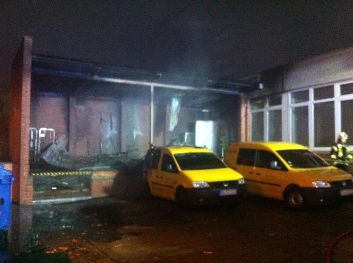 POL-HRO: Brandstiftung an der Postfiliale am Berliner Platz in Schwerin