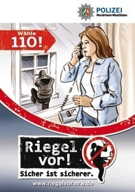 Melden Sie verdächtige Wahrnehmungen über den Notruf 110!