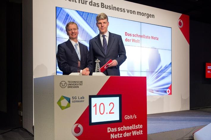 Vodafone präsentiert mit 5G-Netz schnellstes Mobilfunknetz der Welt