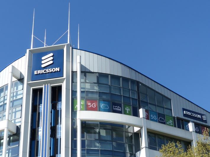 """Die Ericsson-Firmenzentrale für den Markt Westeuropa in Düsseldorf. Weiterer Text über ots und www.presseportal.de/nr/13502 / Die Verwendung dieses Bildes ist für redaktionelle Zwecke honorarfrei. Veröffentlichung bitte unter Quellenangabe: """"obs/Ericsson GmbH"""""""