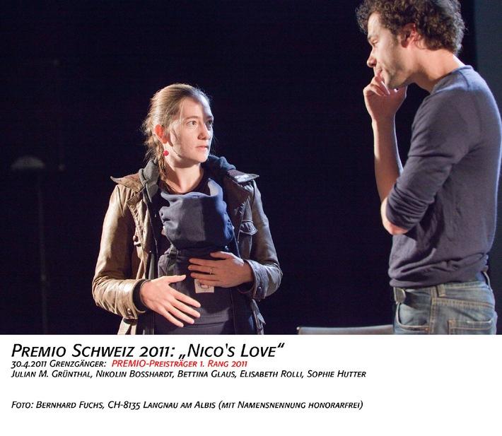 PREMIO 2011: assegnazione del premio d'incoraggiamento per le arti sceniche  Da Lucerna, un vincitore convincente per l'anniversario