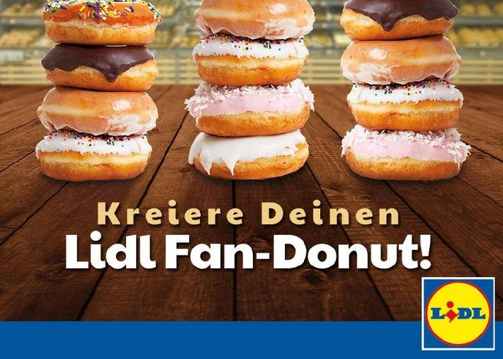 """Lidl-Fans kreieren auf Facebook ihren Lidl-Fan-Donut. Weiterer Text über OTS und www.presseportal.de/pm/58227 / Die Verwendung dieses Bildes ist für redaktionelle Zwecke honorarfrei. Veröffentlichung bitte unter Quellenangabe: """"obs/LIDL"""""""