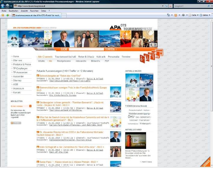 TP reloaded: Videos und neue Features auf www.tourismuspresse.at
