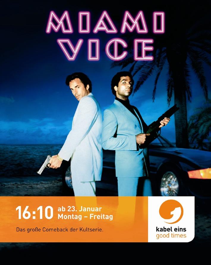 """""""Endlich wieder im Dienst."""" kabel eins-Kampagne zum Start von """"Miami Vice"""""""