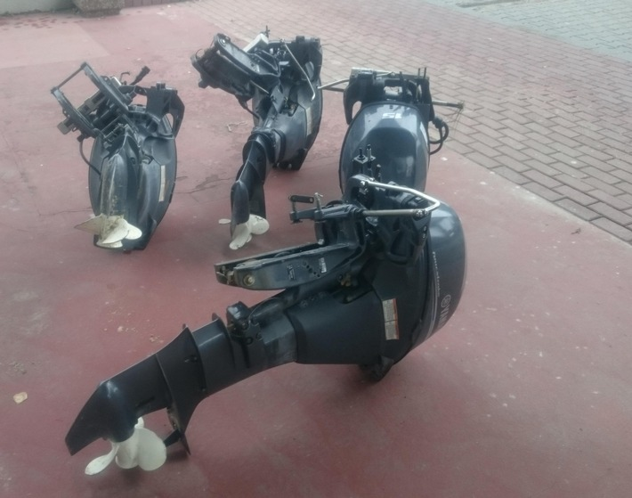 BPOLD-B: Gemeinsame Deutsch-polnische Streife entdeckt gestohlene Bootsmotoren im Kofferaum