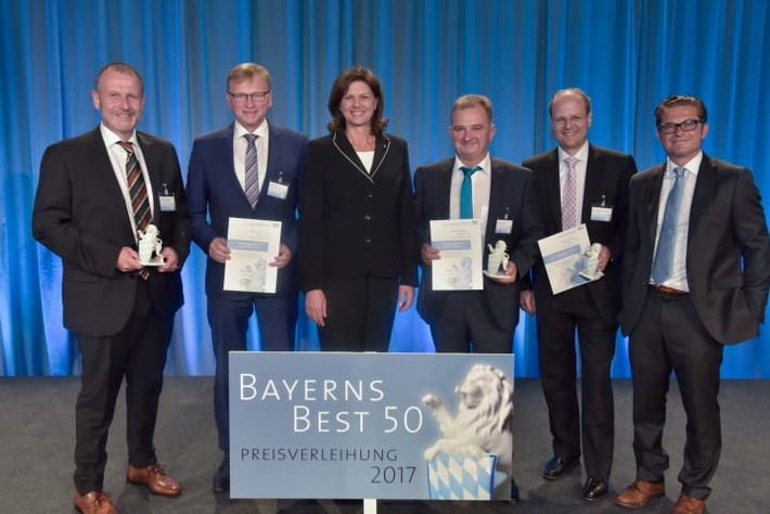 """Einhell Germany AG wird mit der Auszeichnung """"Bayerns Best 50"""" geehrt"""