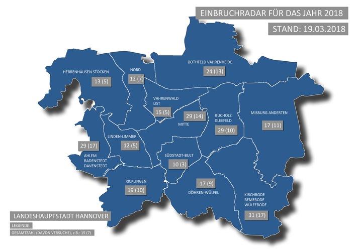 POL-H: Einbruchradar der Polizeidirektion (PD) Hannover ab sofort online