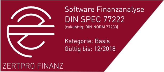 Erfolgreiche Zertifizierung der FinGOAL! Finanzanalyse für Privatkunden nach DIN SPEC 77222 - zukünftig DIN-Norm 77230