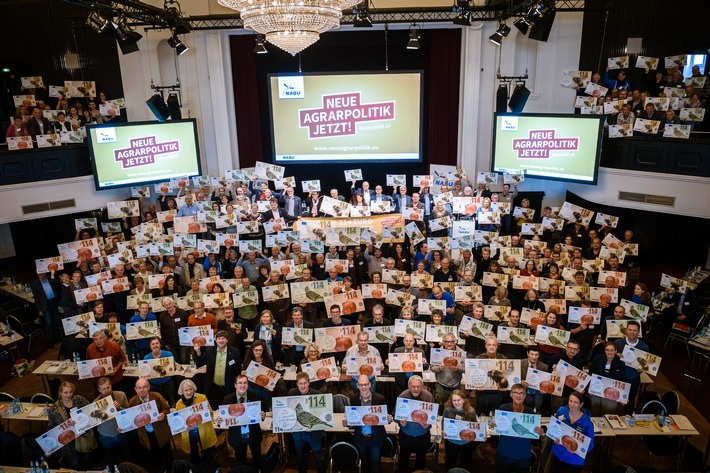 """ជុំ 260 NABU-Delegierte tagten am Wochenende zur NABU-Bundesvertreterversammlung in Hamburg und verabschiedeten eine Resolution, die von der Bundesregierung entschlossenes Auftreten beim Agrarministerrat am 19. ខែវិច្ឆិកា 2018 verlangt. Des Weiteren bekannten sich die NABU-Delegierten zu einer starken EU. Die anstehende EU-Wahl sei entscheidend, um die Ziele des Naturschutzes zu sichern. Weiterer Text über ots und www.presseportal.de/nr/6347 / ការប្រើប្រាស់រូបភាពនេះគឺសម្រាប់គោលបំណងវិចារណកថាគិតថ្លៃ. សូមដកស្រង់ប្រភព: """"obs/NABU/Guido Rottmann"""""""