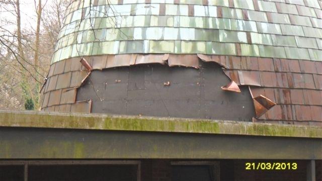 POL-REK: Kupferplatten von Friedhofskapelle gerissen - Kerpen