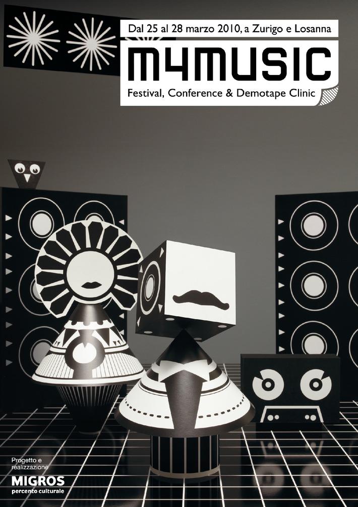 Tredicesima edizione del Festival di musica del Percento culturale Migros, dal 25 al 28 marzo 2010   m4music goes West